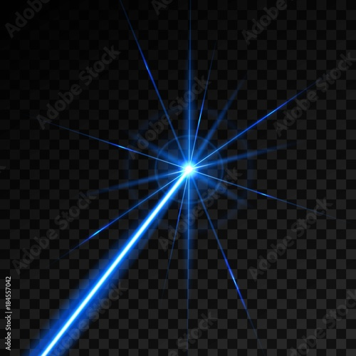 Obraz Creative vector illustration of laser security beam isolated on transparent background. Art design shine light ray. Abstract concept graphic element of glow target flash neon line - fototapety do salonu