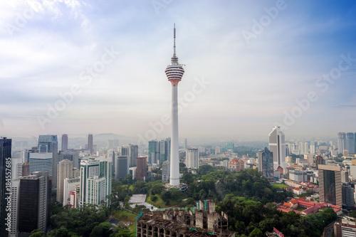Papiers peints Kuala Lumpur aerial view of Kuala Lumper skyline