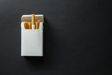 Cigarette On A Dark Background.