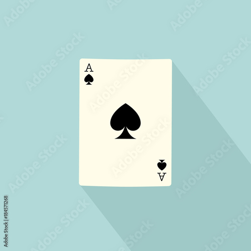 Photo  Poker playing card isolated on background