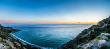 Panoramic View Of The Beach Of Maro In Malaga.