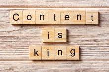 Content Is King Word Written O...