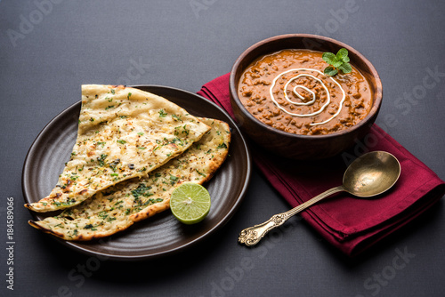 Obraz na plátně Dal makhani or dal makhni is a popular food from Punjab / India made using  whol