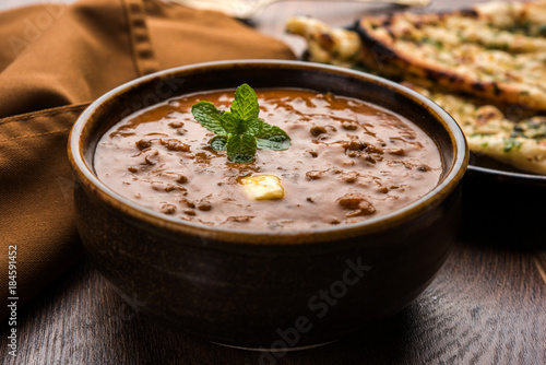 Fényképezés  Dal makhani or dal makhni is a popular food from Punjab / India made using  whol