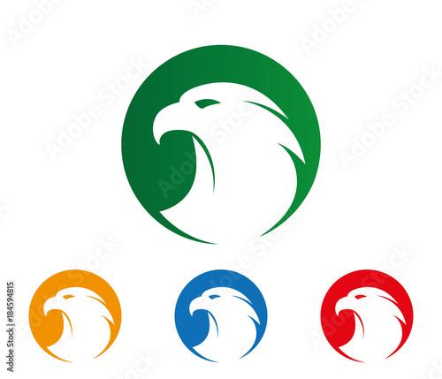 Photo  majestic brave mighty eagle simple vector logo design