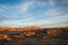 Sunset Landscape View At Hueco...