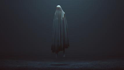 Pływający Zły Duch w mglistej pustce