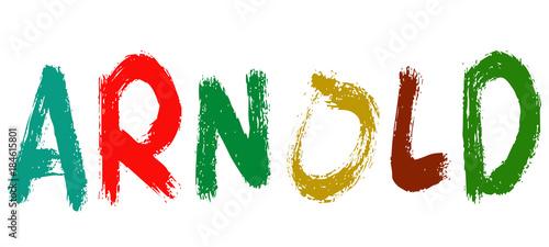 Arnold - Nomi dal mondo Canvas Print