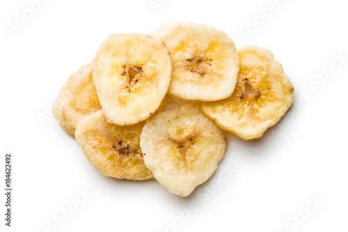 Dried banana chips.