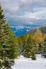 Berglandschaft Mit Verschneite...