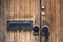 Door To The University Library...
