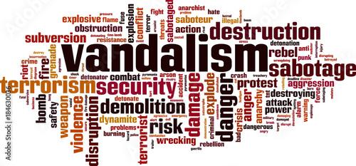 Vandalism word cloud Canvas Print