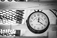 Train Station Vintage Clock