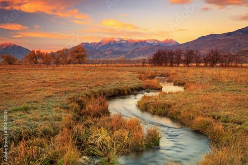 Fotografie, Obraz  Utah mountain reflection, USA.