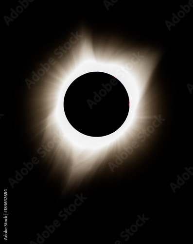 Totality during the Solar eclipse.