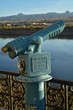 vintage coin operated telescope river view