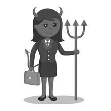 Devil Businesswoman With Brief...