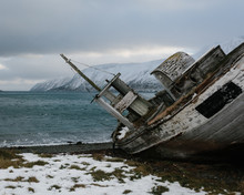 Abandoned Boat In Norway