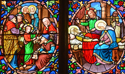 NaklejkaPontoise, France - july 26 2017 : Saint Maclou cathedral
