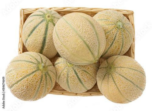 Cesto di meloni retati Canvas Print