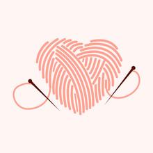 Knitting Heart Illustration. K...