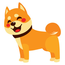 Cute Colorful Happy Shiba Inu ...