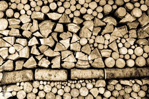 Poster Brandhout textuur firewood