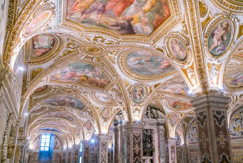 Fotografie, Obraz  The colorful Crypt in the Duomo of Salerno, Campania, Italy.