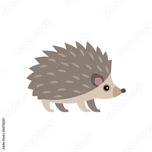Vector illustration of cute hedgehog isolated on transparent background Tableau sur Toile