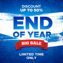 End Of Year Sale Promo Vector ...