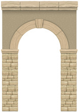 Arch In The Wall Of Beige Cut ...