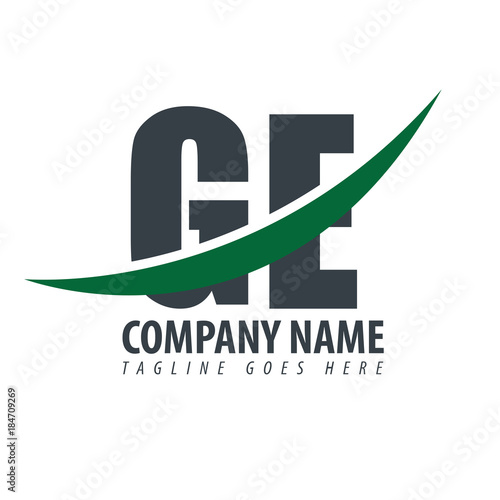 Initial Letter Ge Overlapping Logo Buy This Stock Vector And