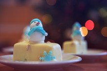 Christmas Dessert With Snowman...