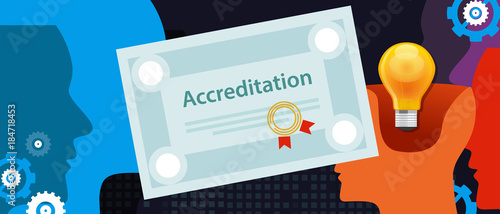 Photo accreditation authorized organization business certificate paper with stamp
