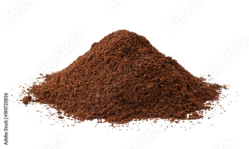 Pile of  ground coffee