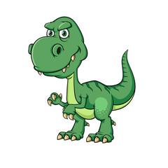 Ilustracja wektorowa dinozaurów kreskówka, na białym tle.