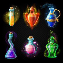 Glass Bottles With A Magical P...