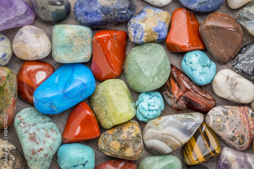 polished, colorful gemstone background