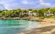 Cala Dor beach at Cala d'Or city, Palma Mallorca Island, Spain