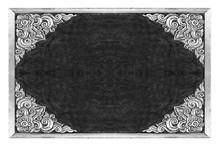 Old Decorative Frame - Handmade, Engraved -  On White Background