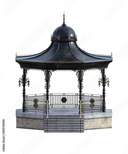 Bandstand isolated on white. 3d render Canvas Print