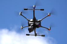 Commercial Drone In Flight Lar...
