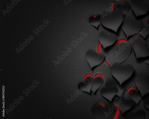 paper hearts , happy valentine's day  - 3D romantic card / background ( love , wedding ) © Wojciech Rochowicz