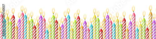 Geburtstag Kerzen Einladung Hintergrund Muster nahtlos isoliert Fototapete
