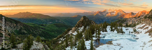 Alpine sunrise in the Wasatch, Utah, USA.