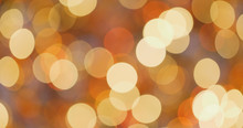 Bokeh Of Christmas Decoration In Golden Color