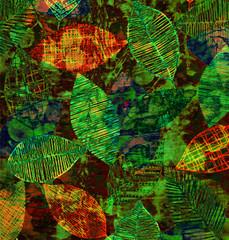 Obraz Batik tie dye texture repeat modern pattern