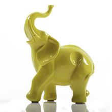Yellow Ceramic Porcelain Eleph...