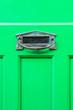 Leinwanddruck Bild - 緑色の玄関扉