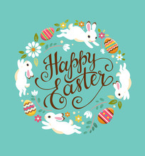 Happy Easter Greeting Card. Ve...